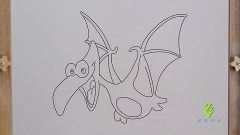 翼龙简单步骤的简笔画
