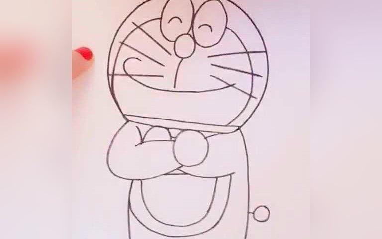 哆啦a梦叮当猫手绘卡通简笔画简笔画教程