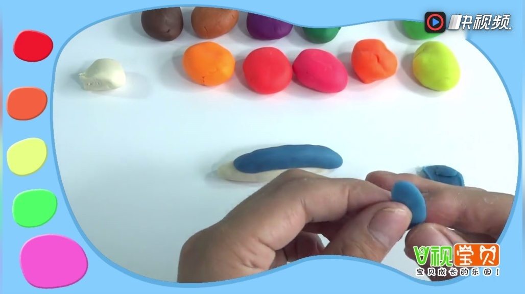 教你用彩泥制作可爱的小海豚, 神奇的彩泥世界!