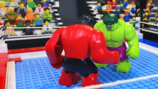 视频:坦克世界乐高定格动画 绿巨人与红巨人