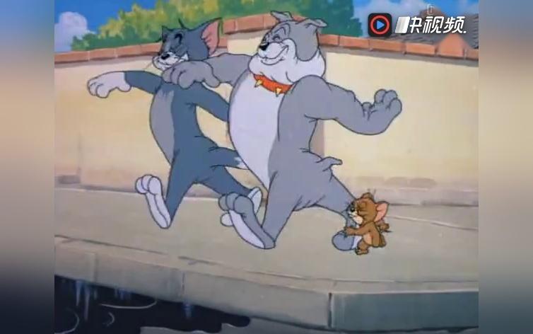 《猫和老鼠》汤姆 杰瑞 斯派克成了最好的朋友,为了一块肉动手