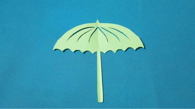 剪纸雨伞2 儿童剪纸教程大全 亲子手工diy教学
