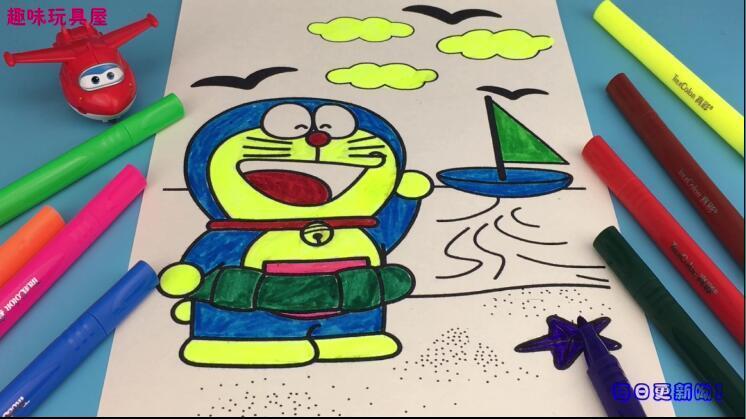 超级飞侠乐迪填色机器猫哆啦a梦-亲子游戏 儿童早教 益智玩具-宣宇.