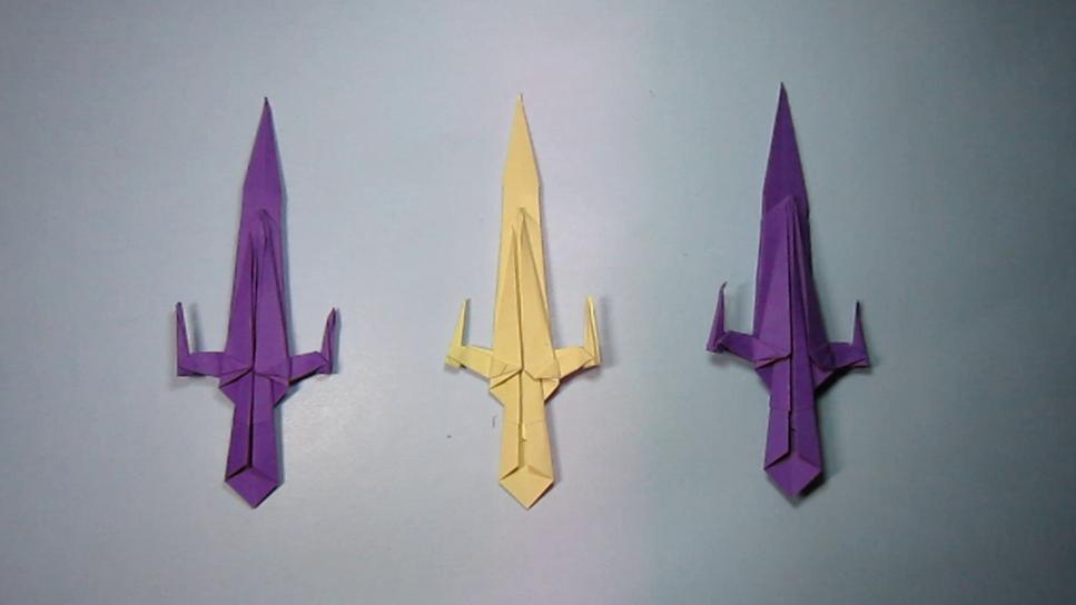宝剑怎么折 儿童手工折纸大全 宝剑折纸
