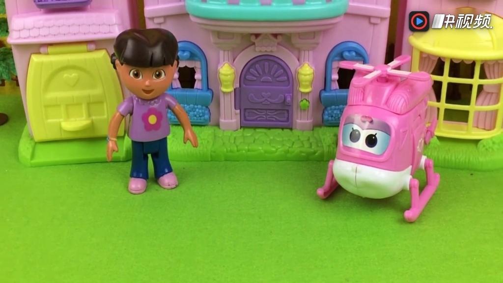 朵拉和超级飞侠橡皮泥培乐多彩泥制作好看的盆景玩具