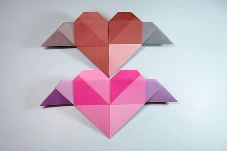 视频:简易手工折纸心形,2分钟一张纸就能折出漂亮带翅膀的爱心