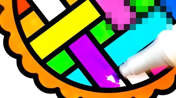 视频:儿童简笔画动画 彩色圆盘涂色