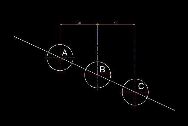 cad距离使B-C的复制和A-B的距离一样,详cad俯视图衣服架图片