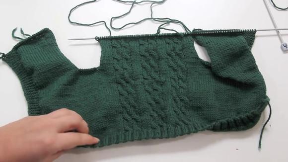 男宝宝毛衣织法,手工编织时尚毛衣教程