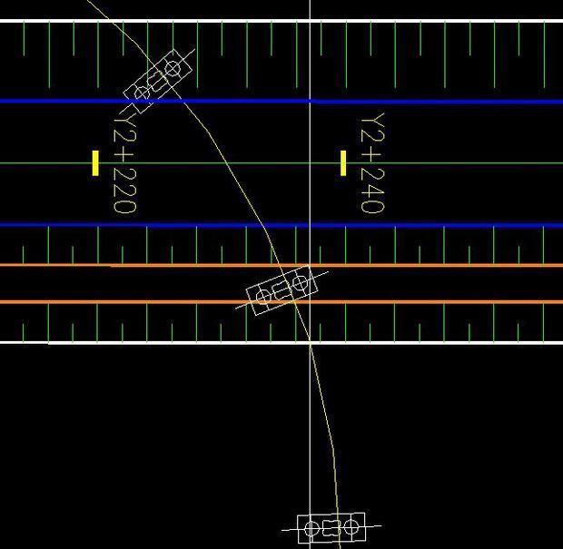 CAD中高架桥的小路经过一条小路,图中的桥墩macbookpro画cad怎么样图片