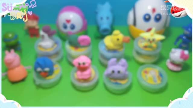 自制橡皮泥惊喜蛋层层奇趣蛋海绵宝宝出奇蛋乐高小人玩具蛋4059