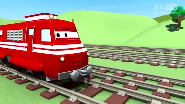 儿童教育卡通_幼儿教育动画片_拖车汤姆和火箭在汽车城
