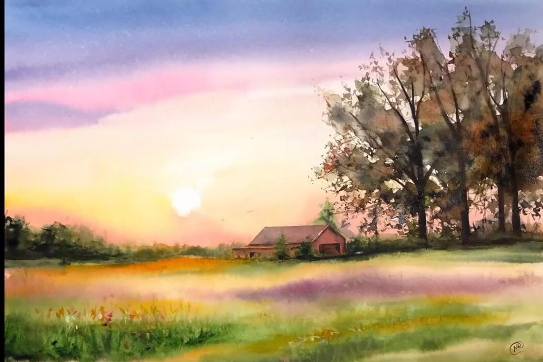 简单好学的水彩绘画视频教程,教你如何用水彩绘制风景