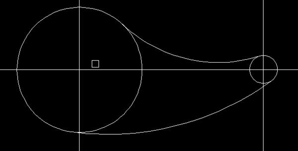 CAD两个圆外的这条弧线画,如图!cad很复制中长的x出现后图片