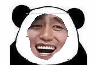 PS做熊猫头表情几个步骤轻松请吃搞定表情包图片