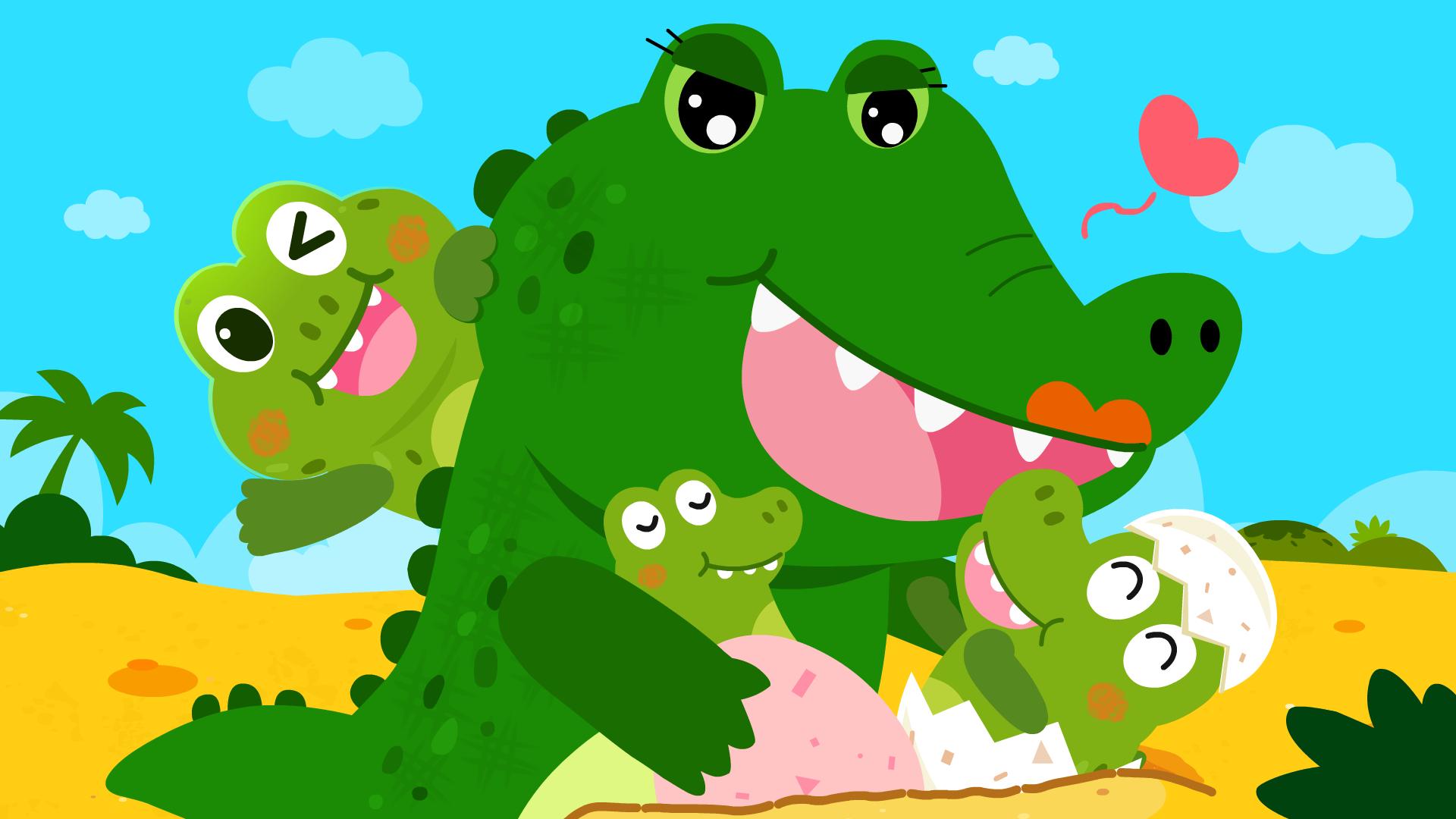 宝宝巴士启蒙音乐剧之动物世界 第4集 鳄鱼宝宝出生了