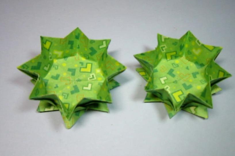 视频:儿童手工折纸收纳盒,没想到漂亮莲花收纳盒子的折法这么简单