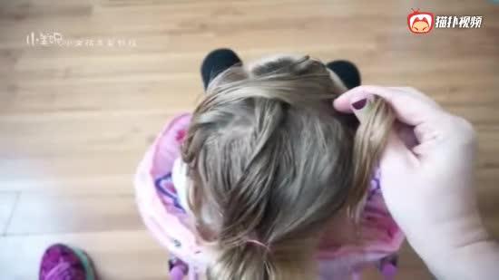 漂亮的幼儿编发教程 小女孩发型视频