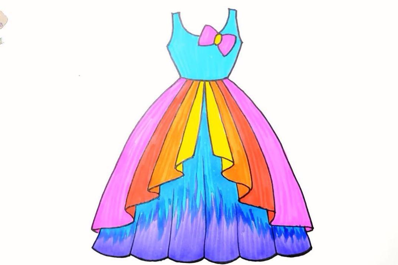 视频:简单好学的儿童早教绘画视频教程,绘制可爱的连衣裙