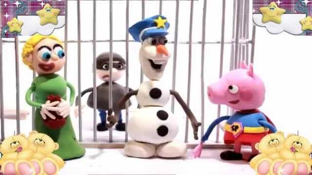 小猪佩奇和粉红猪小妹橡皮泥玩具动画视频6
