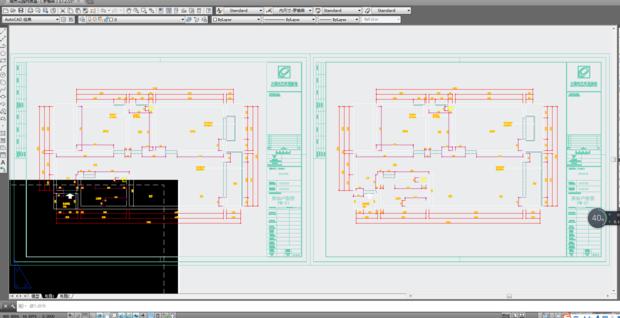 我从其他布局拷了一份CAD电脑套用图纸还好图纸怎么开始图框图片