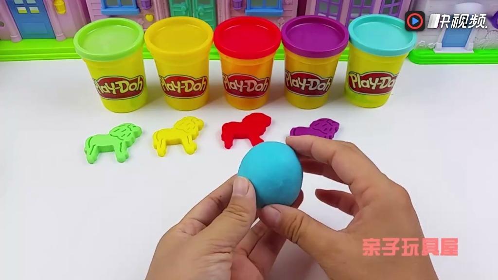 培乐多彩泥玩具视频 儿童手工制作狮子模型