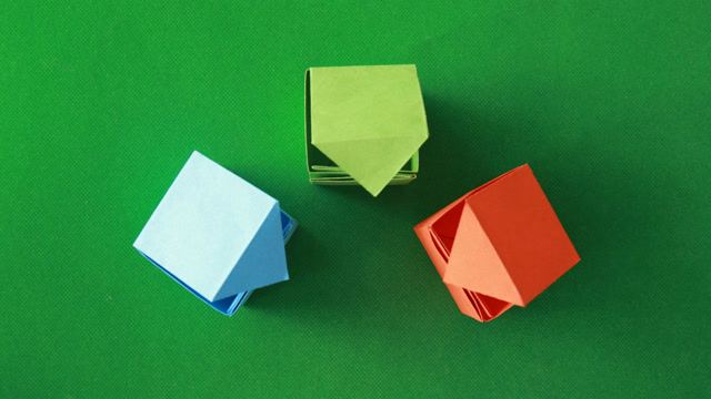 3分钟学会正方体盒子的折法,简单的礼品盒子折纸教程