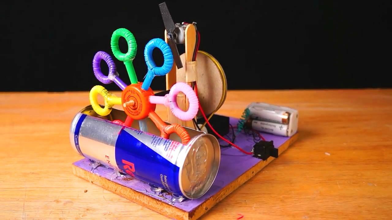 """手工制作diy,制作""""泡泡机""""的方法,步骤简单,特别有创意"""