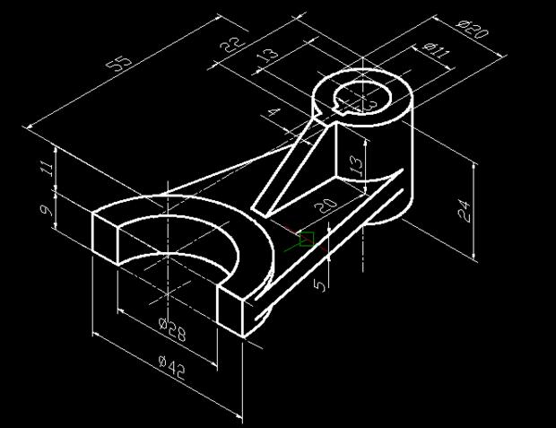 cad里3d建模怎么画两个圆柱之间厚度为5的相切斜面?