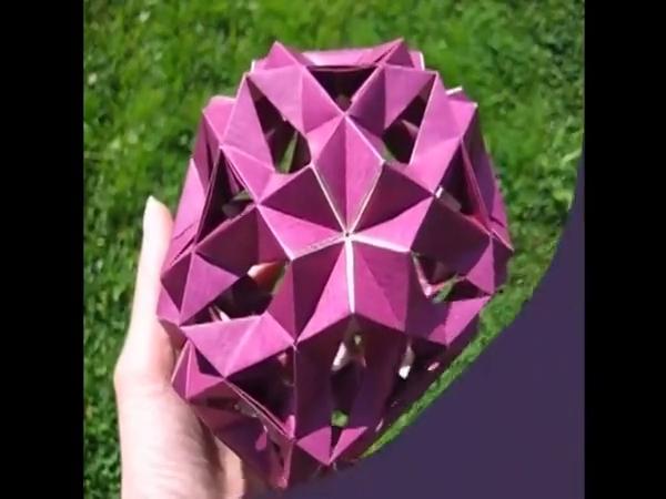 手工制作大全 折纸 3d花球折法视频教程 可做储蓄罐