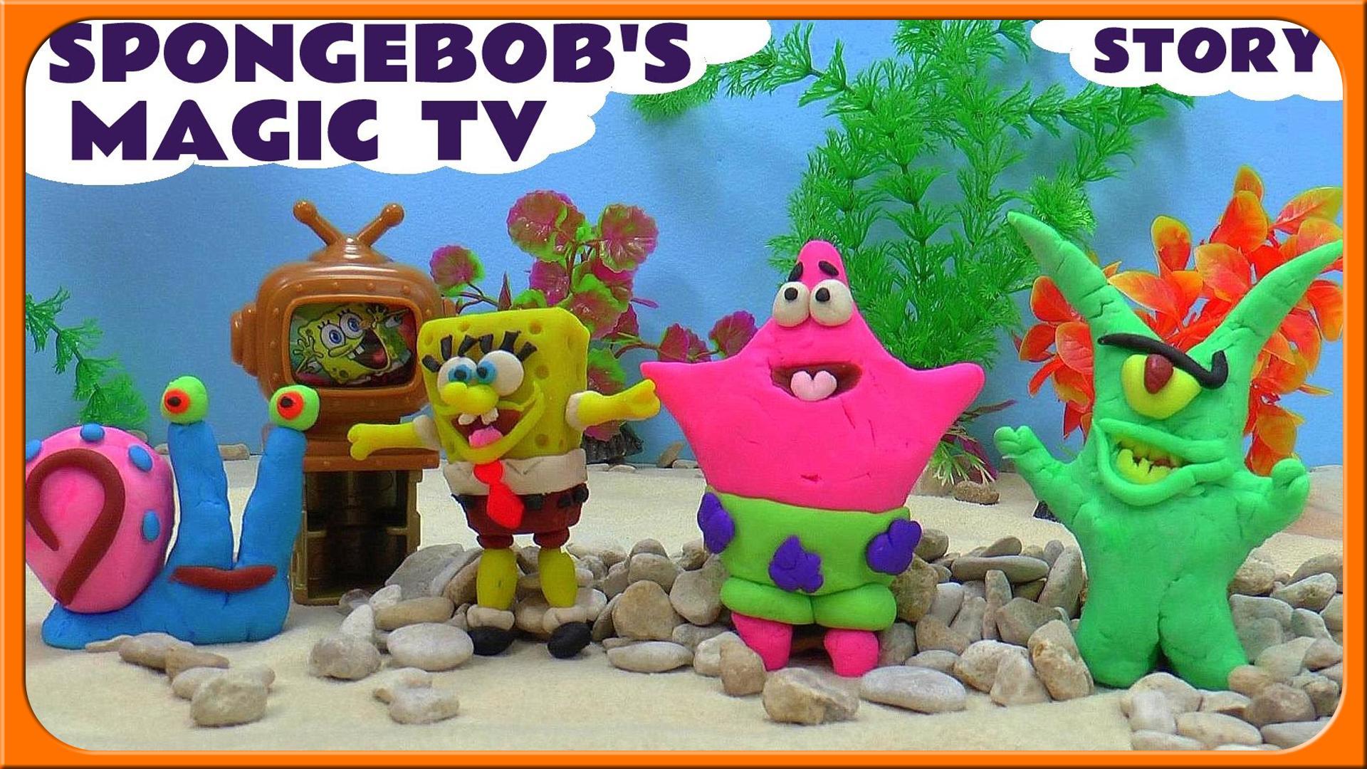 海绵宝宝拥有魔法电视耶!海绵宝宝与派大星超级飞侠妖精的尾巴.