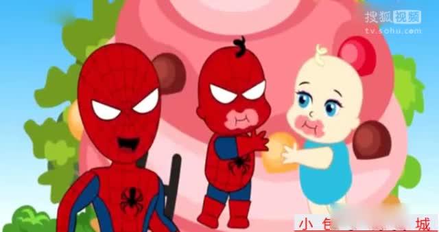 艾莎公主搞笑蜘蛛侠彩泥制作冰淇淋 玩具小游戏过家家5
