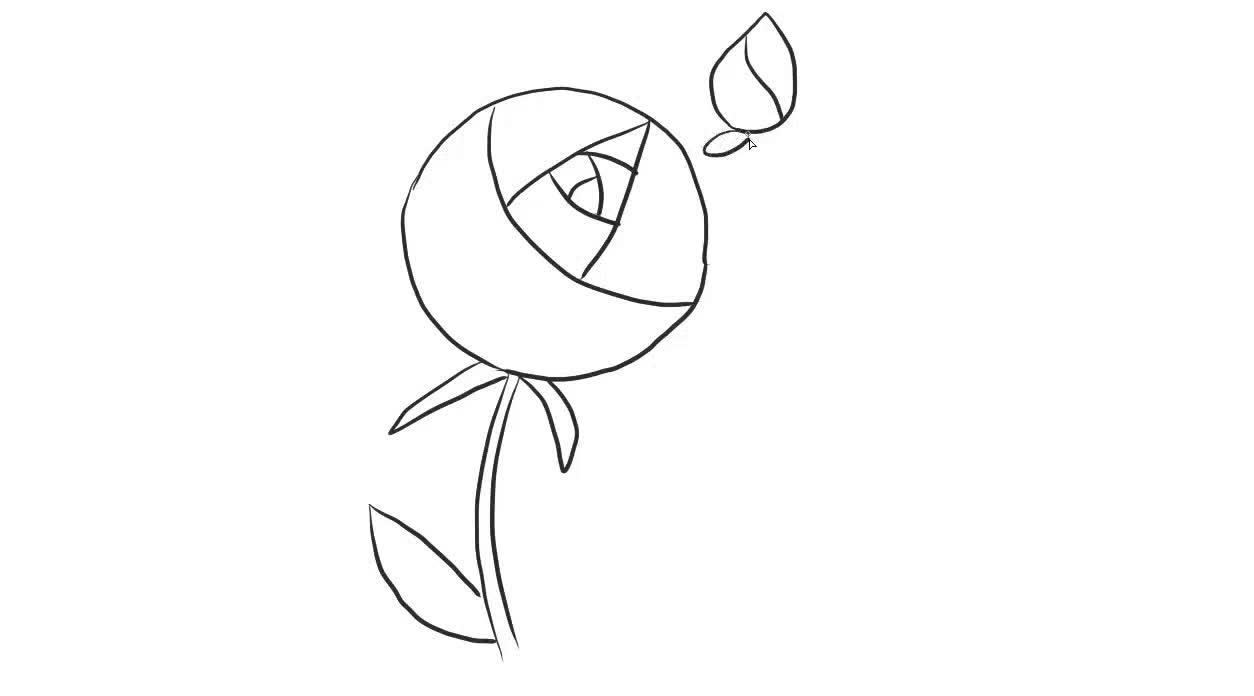 月季花幼儿亲了儿童简笔画