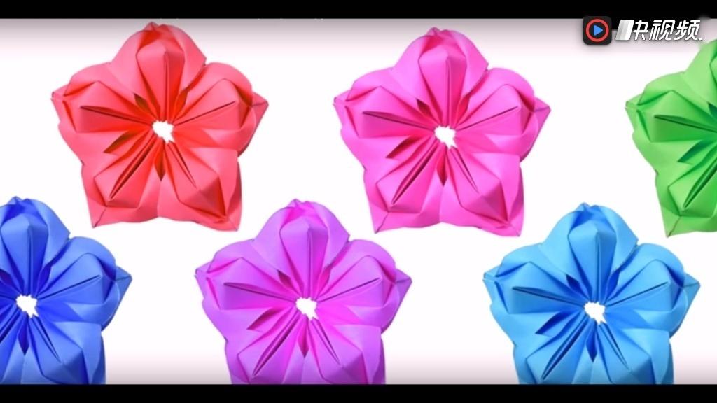 折纸大全简单又漂亮 各种花折纸大全图解法 立体手工折纸花的步骤