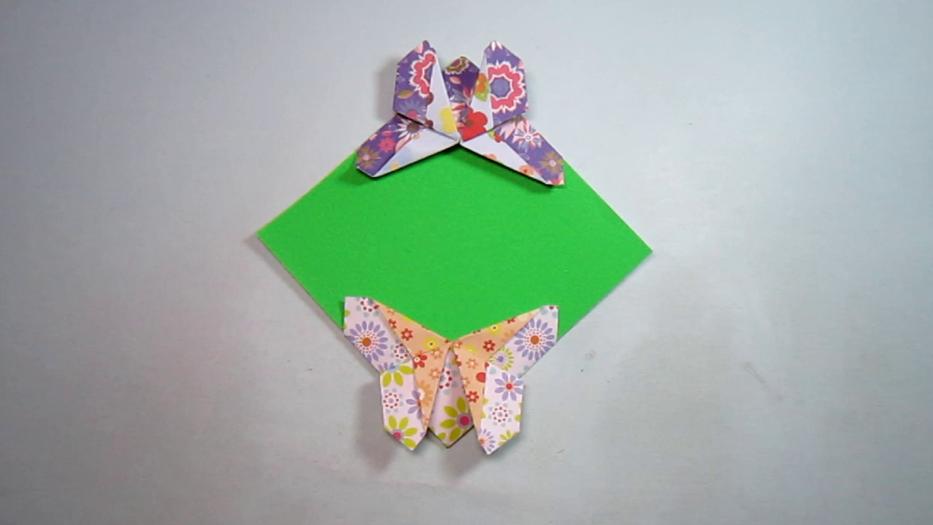 纸艺手工折纸书签,一张纸就能折出简单又漂亮的蝴蝶书签