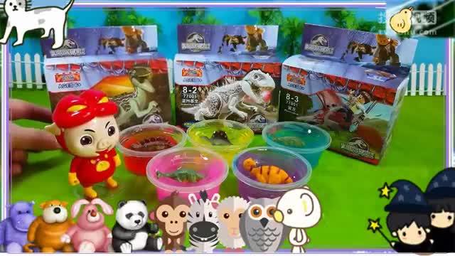 版qq水晶粘土透明球藏着小恐龙玩具 海底小纵队 猪猪侠 铠甲勇士.