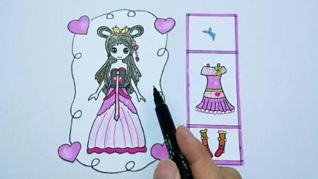 随手拿张纸画叶罗丽衣服, 画法简单易学更有趣, 创意简笔画换装秀图片
