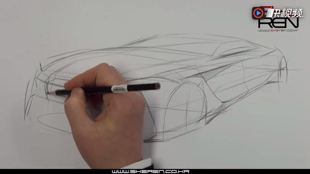 概念汽车设计手绘,马克笔上色渲染教程 汽车设计