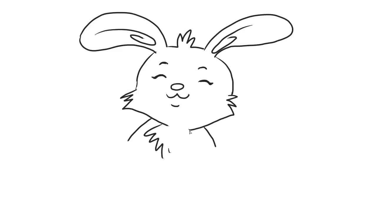 可爱的小白兔儿童简笔画 宝宝轻松学画画-绘心儿童绘画教程-绘心儿童