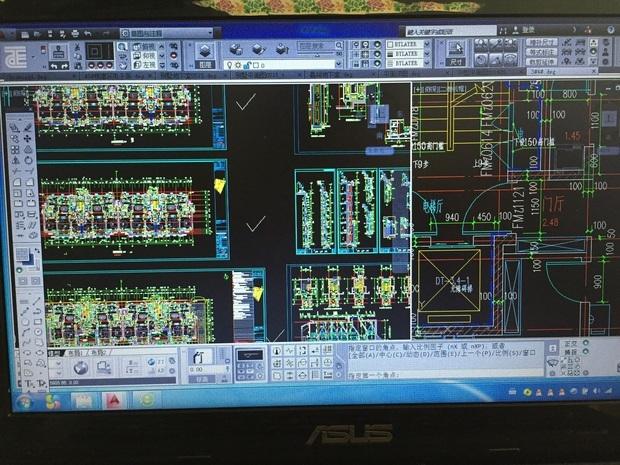 T20天正建筑打开图纸拼图图纸窗口,关闭一小黄显示两个人图片