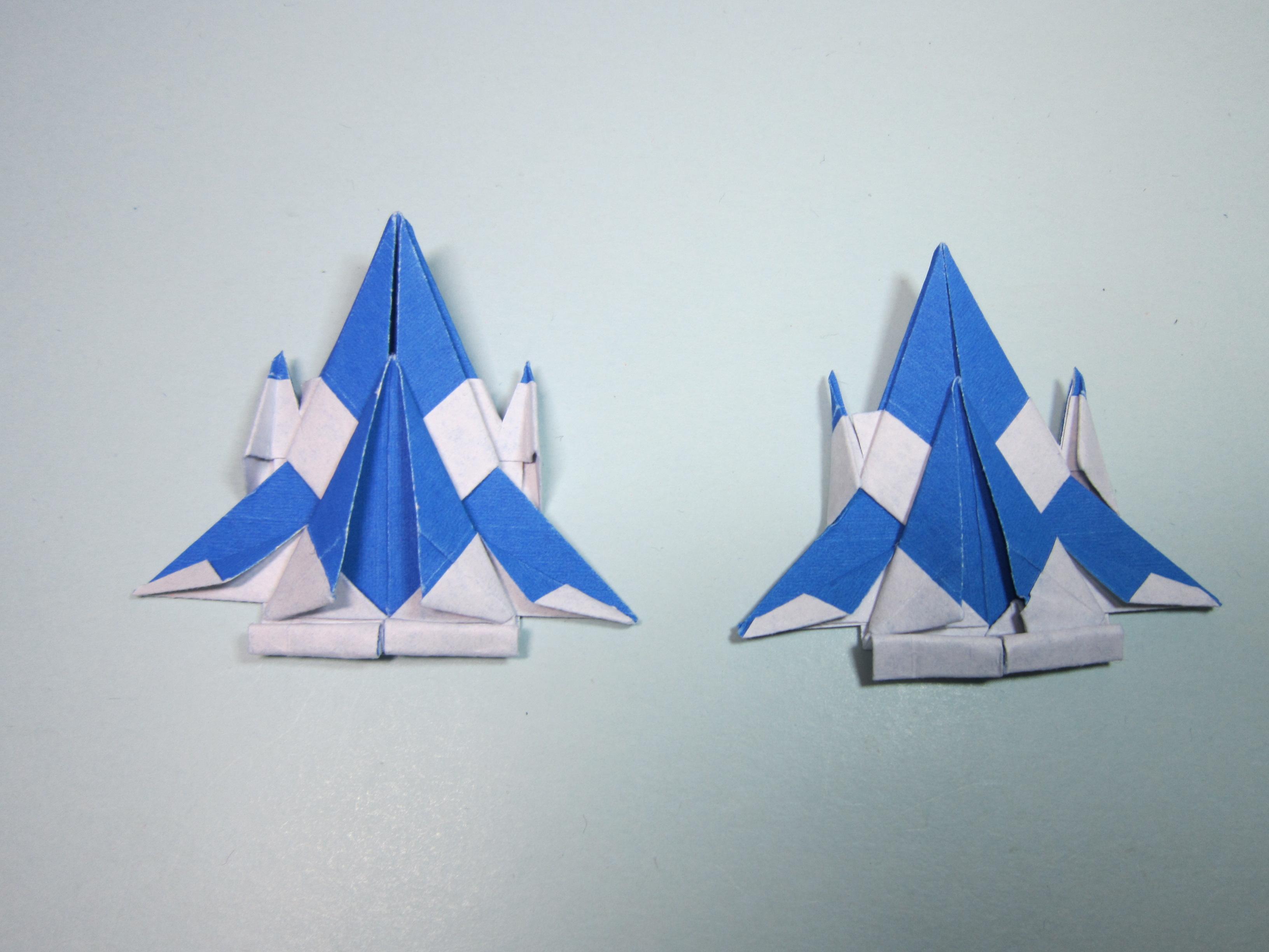 简单的手工折纸飞机:一款具有科幻系列的战斗机折纸教程