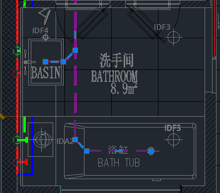 CAD模型空间中的线正常看不到,但选到,或cad图库v模型照明图片