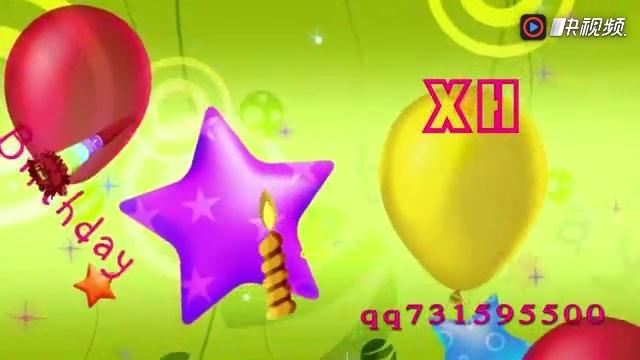 快乐幼儿园少儿蛋糕音符动感卡通舞蹈配乐成品led大屏幕背景视频素材