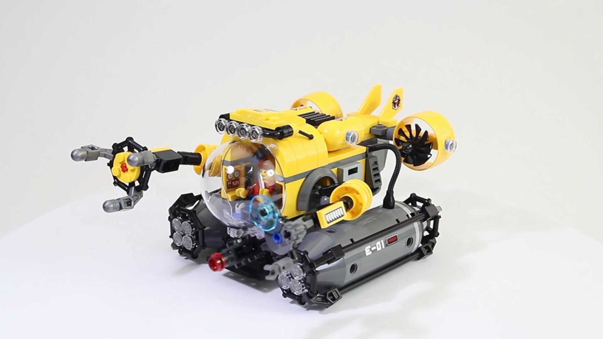 深海探险潜水艇,拼砌乐高积木城市系列60092