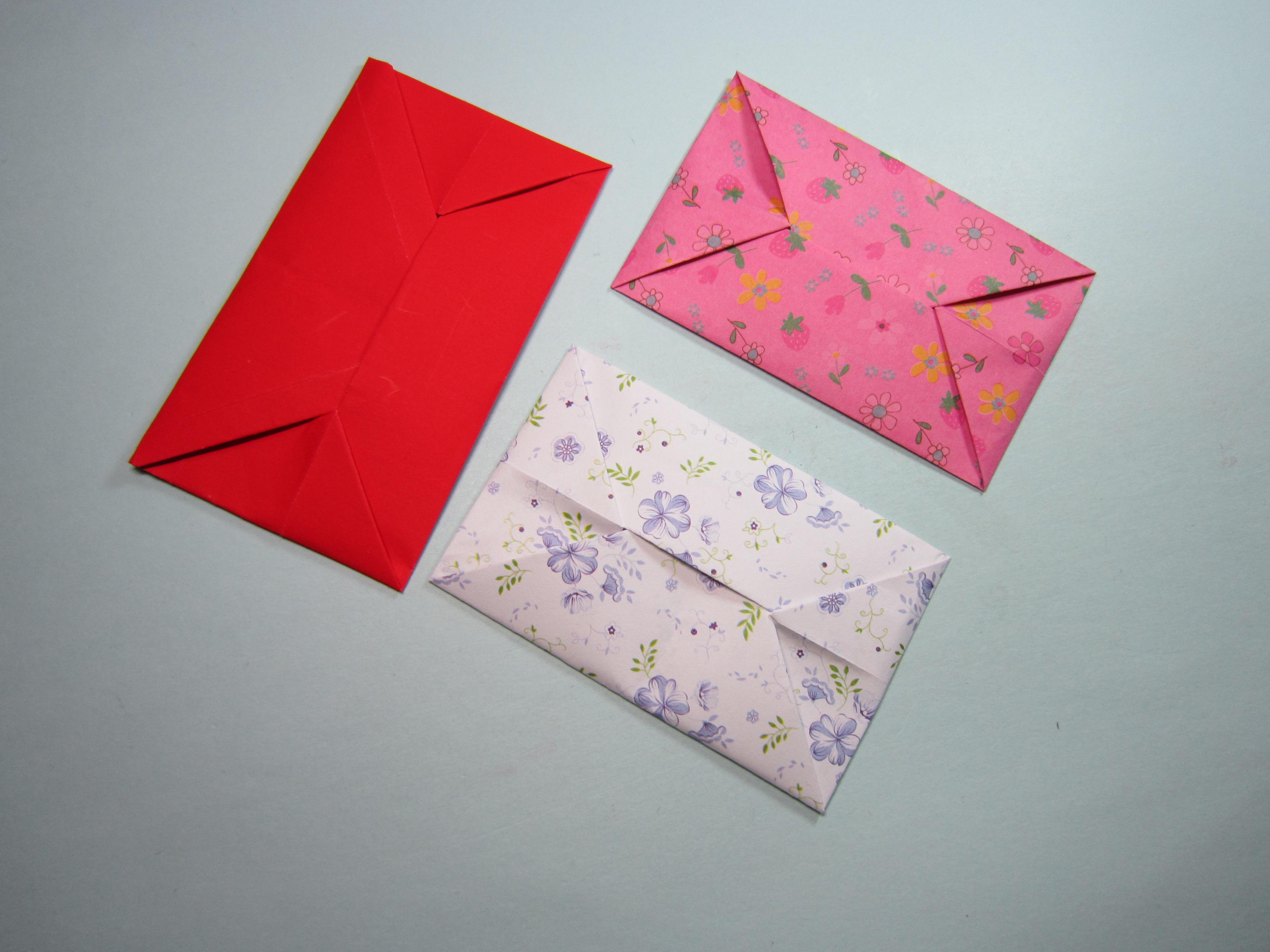 一张纸折一封漂亮的信封,儿童手工折纸信封,简单易学