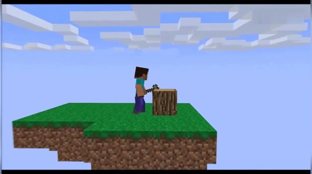 我的世界mc动画-史蒂夫从浮空岛上摔下来成了小白
