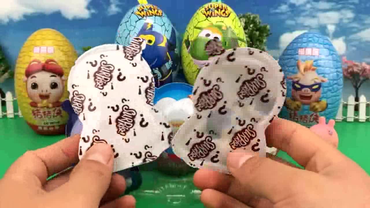 奇趣蛋出奇蛋 超级飞侠第三季奇趣蛋 小动物惊喜蛋 小猪佩奇