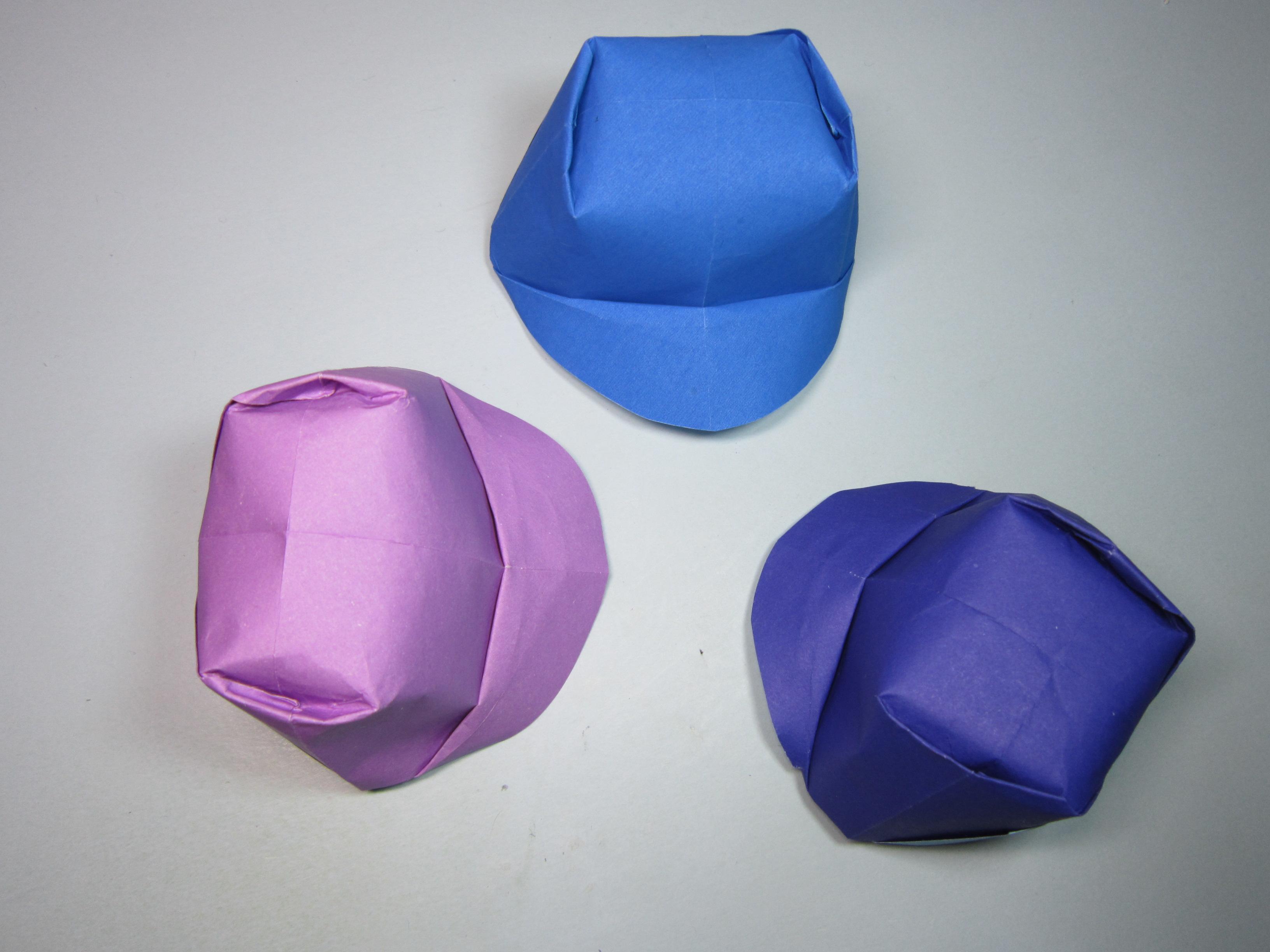 儿童手工折纸教程,简单的帽子折法,diy手工制作