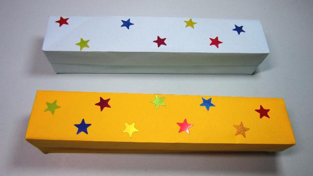 视频-儿童手工折纸教程:漂亮简单的文具盒折法