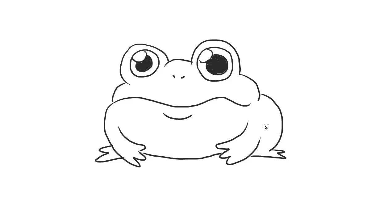 大青蛙幼儿亲子儿童简笔画 幼儿园学画画